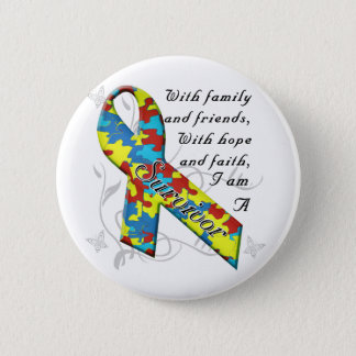 Autism Survivor 2 Inch Round Button