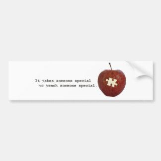 Autism Teacher Bumper Sticker