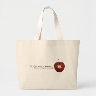 Autism Teacher Large Tote Bag