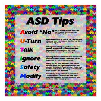 Autism Teacher Tips Poster