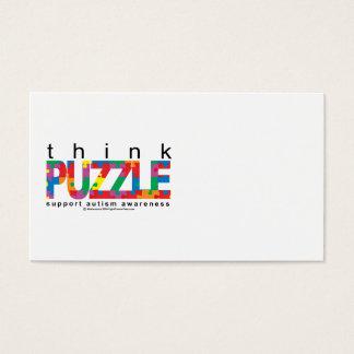 Autism Think PUZZLE Business Card