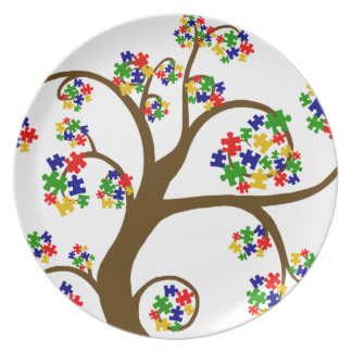 Autism Tree of LIfe Party Plates