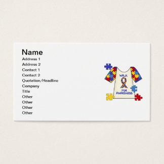 Autism Walk For Awareness Business Card
