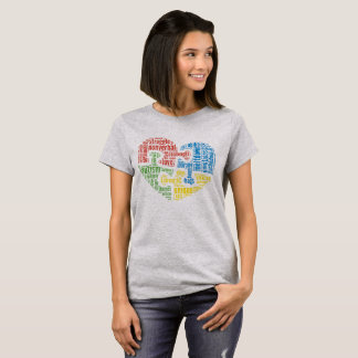 Autism Word Cloud Heart Shirt