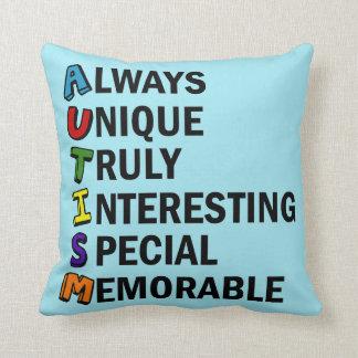 Autism Word Poem Throw Pillow