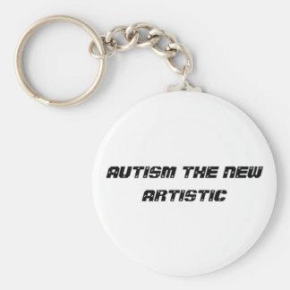 autisme artistique porte-clé rond