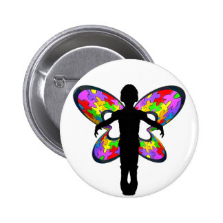 Autistic Butterfly Ribbon Pins
