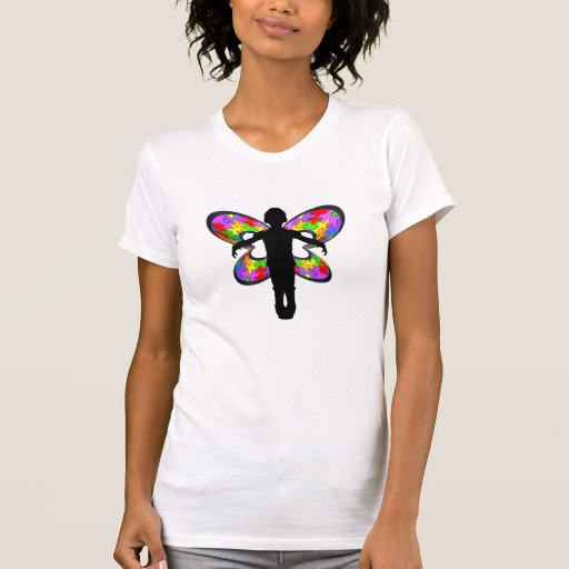 Autistic Butterfly Ribbon Tee Shirts