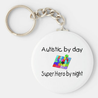 Autistic By Day Super Hero By Night Key Chain