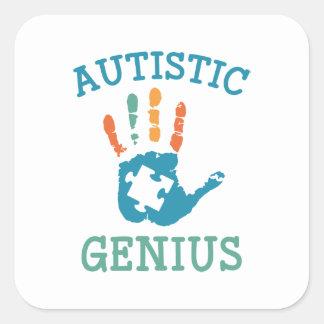Autistic Genius Square Sticker