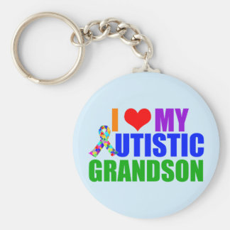 Autistic Grandson Keychain
