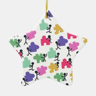 autistic people ceramic ornament