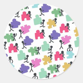 autistic people round sticker