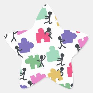 autistic people star sticker
