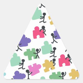 autistic people triangle sticker