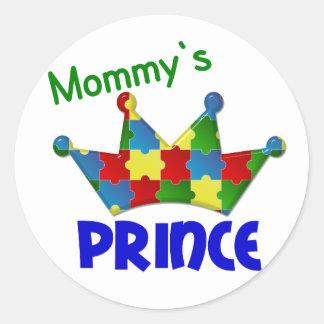 Autistic Prince 3 AUTISM Round Sticker