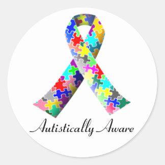 Autistically Aware Round Sticker