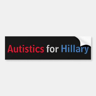 Autistics for Hillary Bumper Sticker