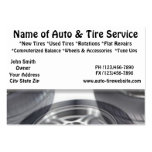 Auto and Tire Service Automotive Business Cards