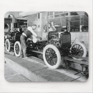 Auto Assembly Line, 1920s Mouse Pad
