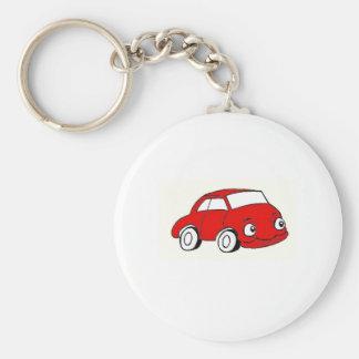 auto basic round button keychain