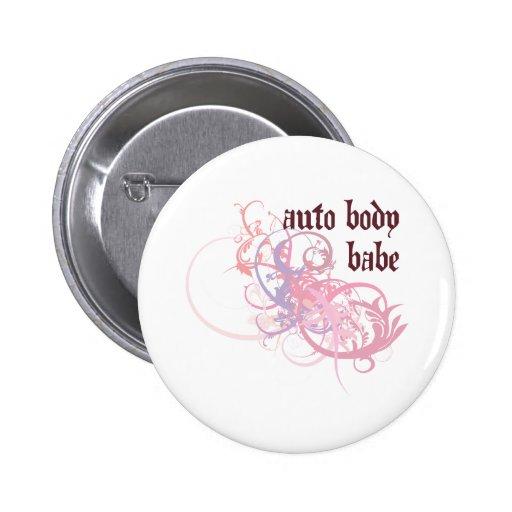 Auto Body Babe Button