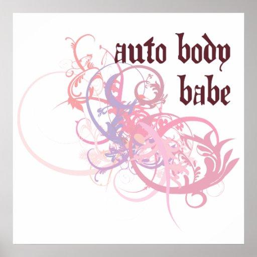 Auto Body Babe Poster