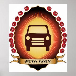 Auto Body Mandorla Posters