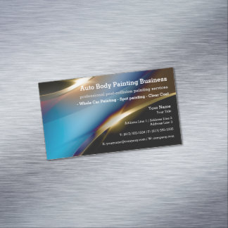 Auto Body Painting | Modern Professional Magnetic Business Card