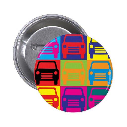 Auto Body Pop Art Buttons