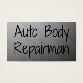 Auto Body Repairman Business Card