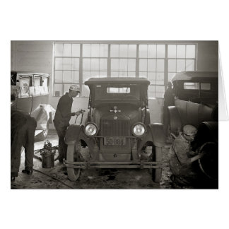 Auto Body Shop, 1926 Card