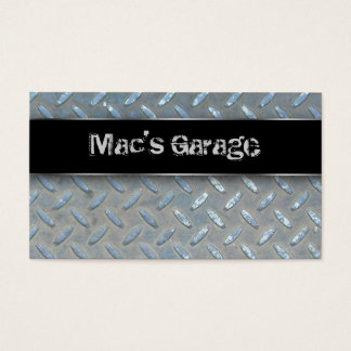 Auto Business Card Construction Contractor Metal