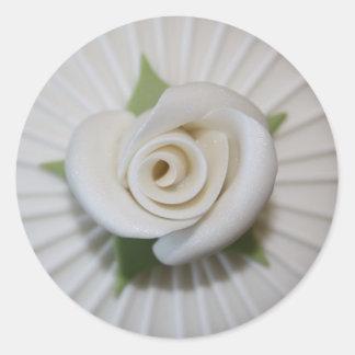Auto colante Button of Rosa Round Sticker