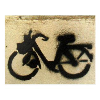 auto-cycle graffiti postcard