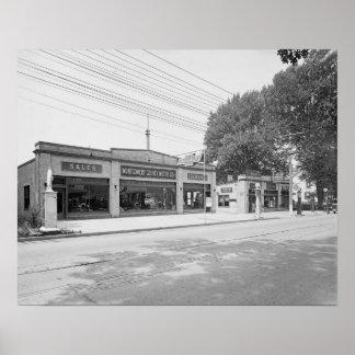 Auto Dealership, 1926. Vintage Photo Poster