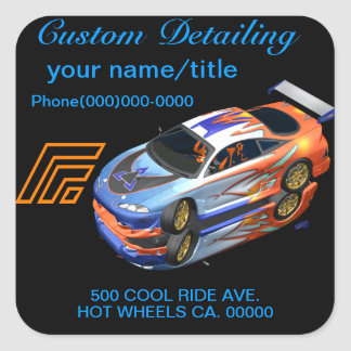 Auto Detailing Stickers