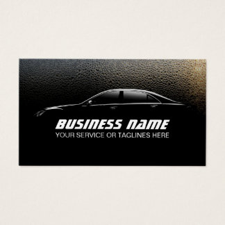 Auto Detailing Water Drops Professional Car Business Card