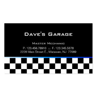Auto Garage Business Card Racing Blue Gradient