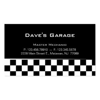 Auto Garage Business Card Racing Gray