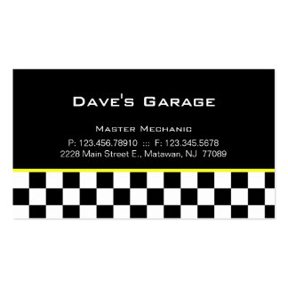 Auto Garage Business Card Racing yellow