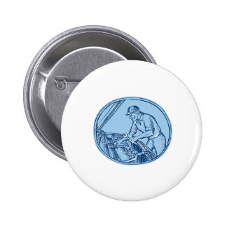 Auto Mechanic Automobile Car Repair Etching 2 Inch Round Button