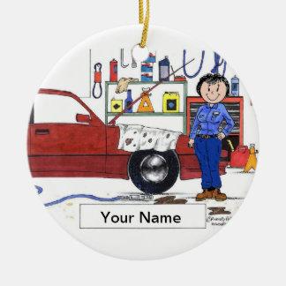 Auto Mechanic - Female Ceramic Ornament