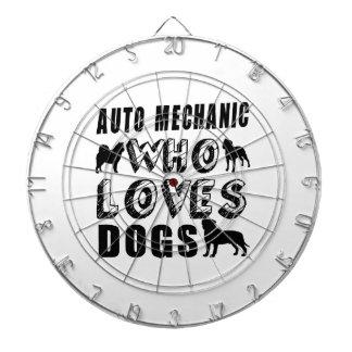 auto mechanic Who Loves Dogs Dart Board