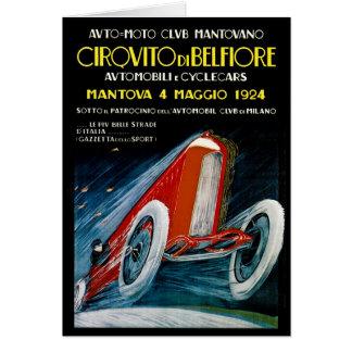Auto Moto Club Mantovano - 1924 Card