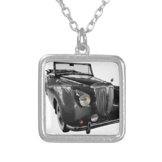 Auto Oldtimer Classic Car Silver Plated Necklace