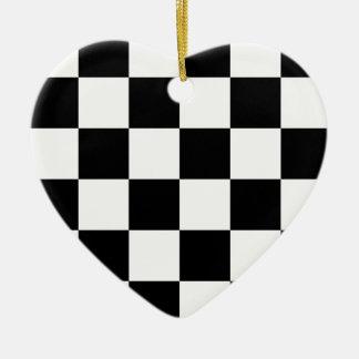 Auto Racing Chequered  Checkered Flag Ceramic Ornament