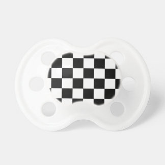 Auto Racing Chequered  Checkered Flag Pacifier