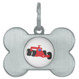 Auto Racing  illustration printed on t-shirts Pet Name Tag