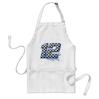 auto racing number 12 blue standard apron
